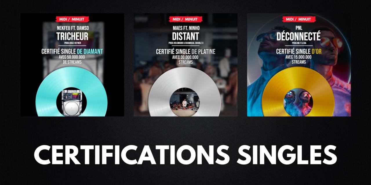 Certifications singles